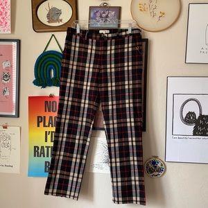 Hot & Delicious Plaid Straight Leg Trouser Pants L